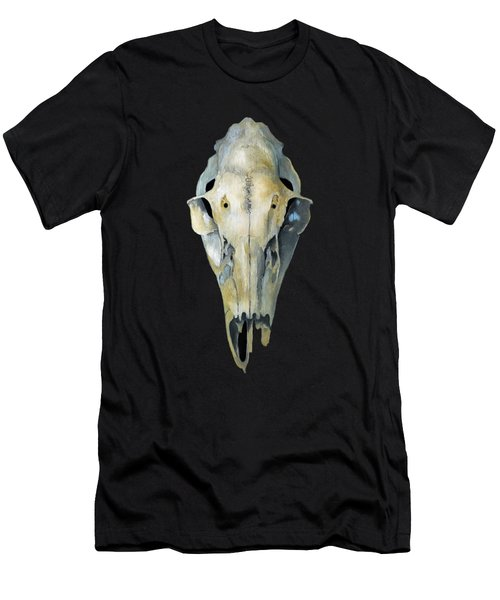 Deer Skull Aura Men's T-Shirt (Slim Fit) by Catherine Twomey