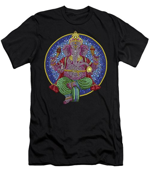 Digital Ganesha Men's T-Shirt (Slim Fit) by Tim Gainey