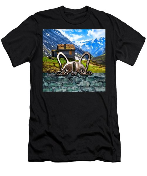 Dog And Landscape Collection Men's T-Shirt (Slim Fit) by Marvin Blaine