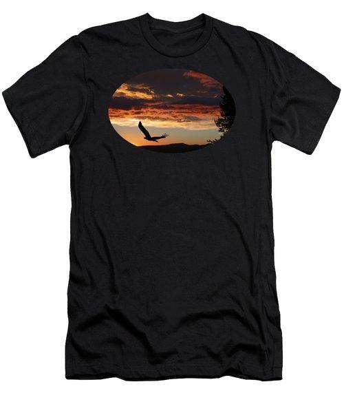 Eagle At Sunset Men's T-Shirt (Slim Fit) by Shane Bechler