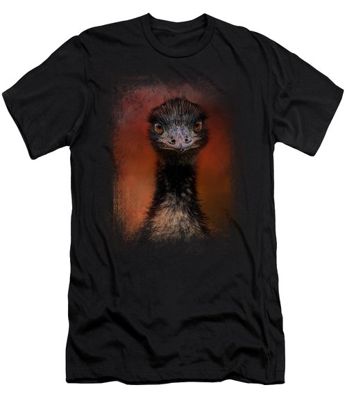 Emu Stare Men's T-Shirt (Slim Fit) by Jai Johnson