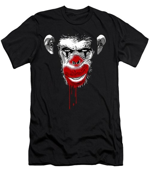 Evil Monkey Clown Men's T-Shirt (Slim Fit) by Nicklas Gustafsson