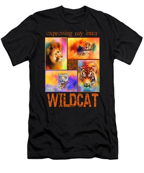 Expressing My Inner Wildcat Men's T-Shirt (Slim Fit) by Jai Johnson