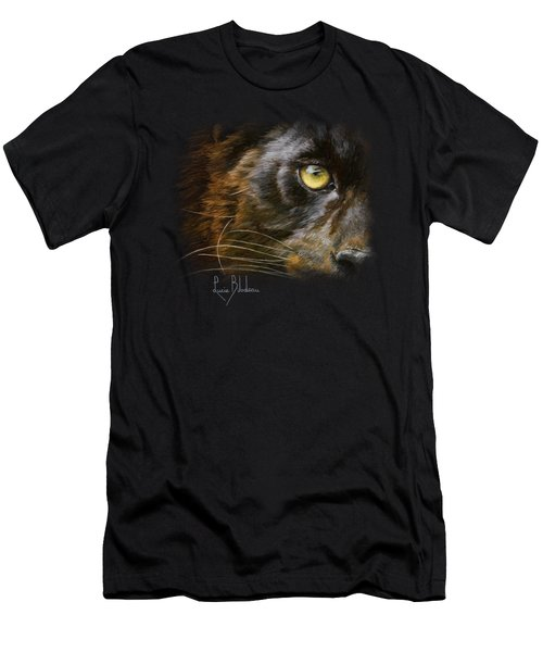 Eye Of The Panther Men's T-Shirt (Slim Fit) by Lucie Bilodeau