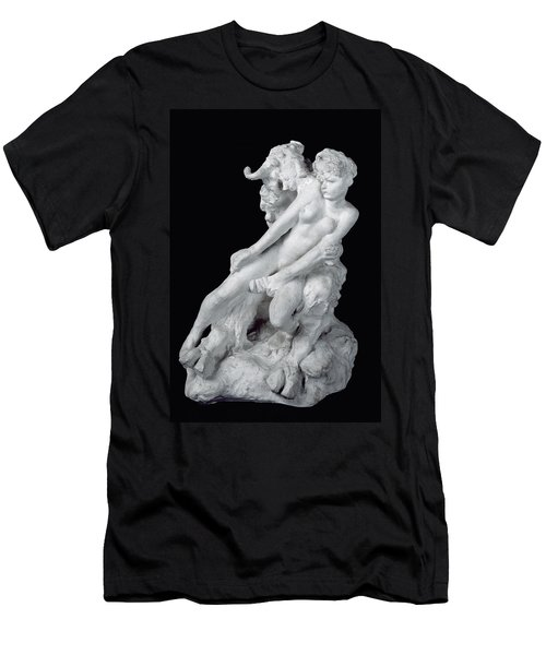 Faun And Nymph Men's T-Shirt (Slim Fit) by Auguste Rodin