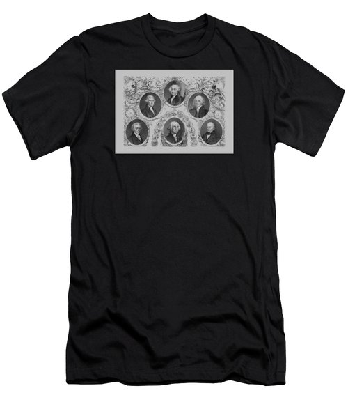 First Six U.s. Presidents Men's T-Shirt (Slim Fit) by War Is Hell Store