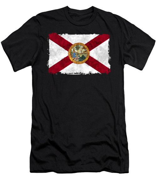 Florida Flag Men's T-Shirt (Slim Fit) by World Art Prints And Designs