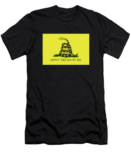 Gadsden Dont Tread On Me Flag Authentic Version Men's T-Shirt (Slim Fit) by Bruce Stanfield