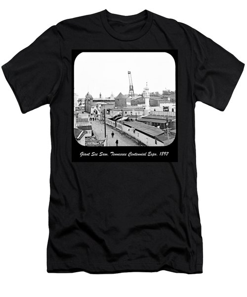 Men's T-Shirt (Slim Fit) featuring the photograph Giant See Saw Tennessee Centennial Exposition 1897 by A Gurmankin