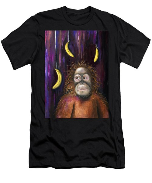 Going Bananas Men's T-Shirt (Slim Fit) by Leah Saulnier The Painting Maniac