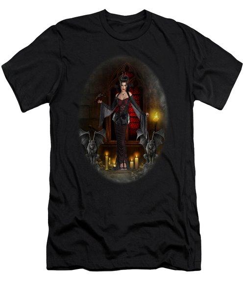 Gothic Queen Men's T-Shirt (Slim Fit) by Ali Oppy