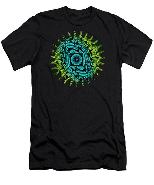 Green Dragon Eye Men's T-Shirt (Slim Fit) by Anastasiya Malakhova