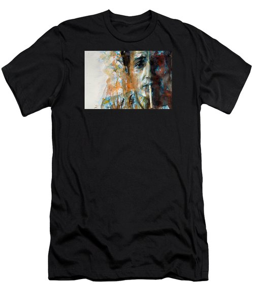 Hey Mr Tambourine Man @ Full Composition Men's T-Shirt (Slim Fit) by Paul Lovering