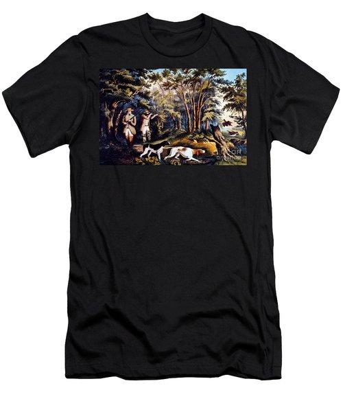 Hunting: Woodcock, 1852 Men's T-Shirt (Slim Fit) by Granger