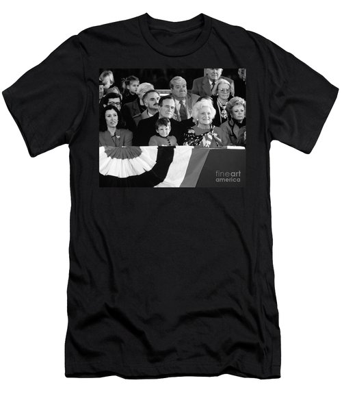 Inauguration Of George Bush Sr Men's T-Shirt (Slim Fit) by H. Armstrong Roberts/ClassicStock