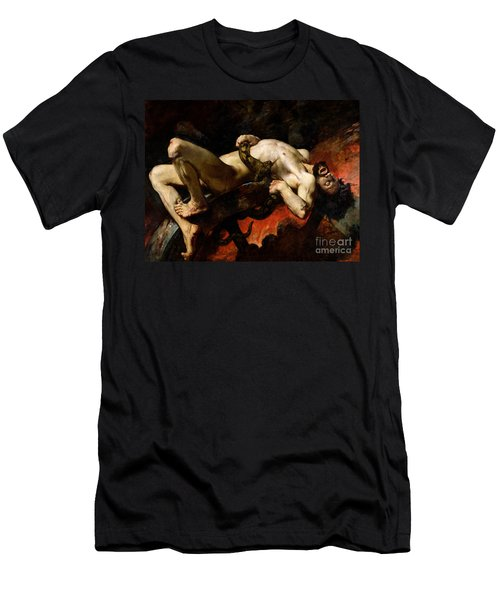 Ixion Thrown Into Hades Men's T-Shirt (Slim Fit) by Jules Elie Delaunay
