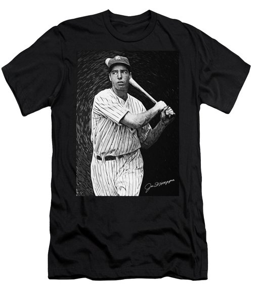 Joe Dimaggio Men's T-Shirt (Slim Fit) by Taylan Apukovska