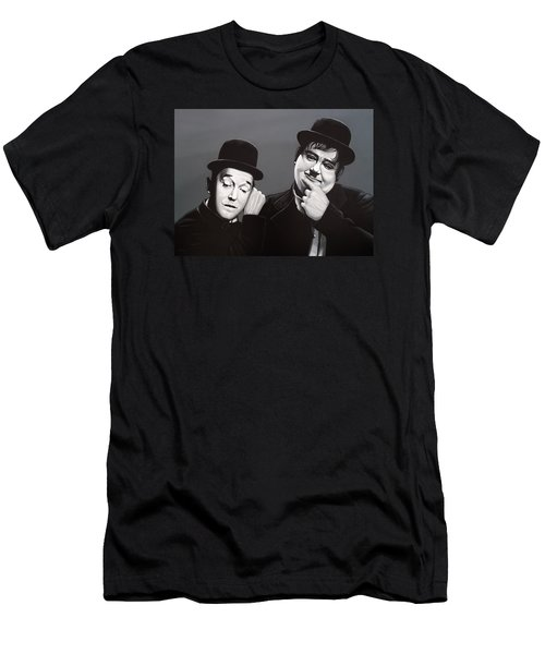 Laurel And Hardy Men's T-Shirt (Slim Fit) by Paul Meijering