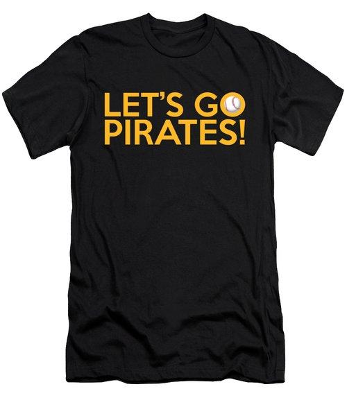 Let's Go Pirates Men's T-Shirt (Slim Fit) by Florian Rodarte