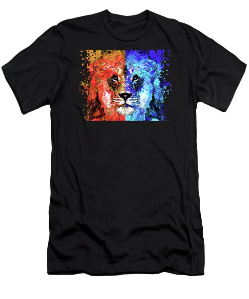 Lion Art - Majesty - Sharon Cummings Men's T-Shirt (Slim Fit) by Sharon Cummings