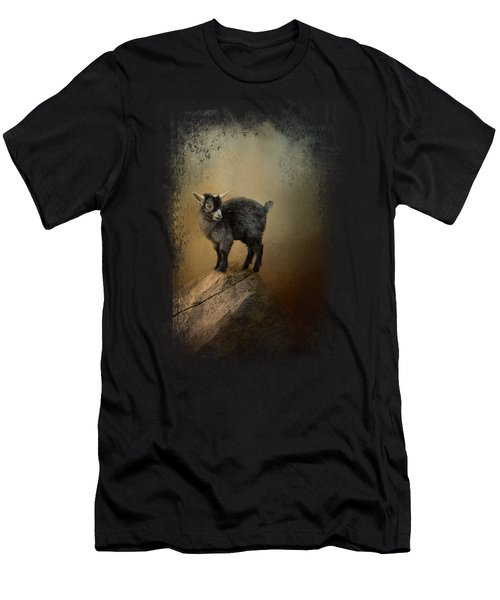 Little Rock Climber Men's T-Shirt (Slim Fit) by Jai Johnson