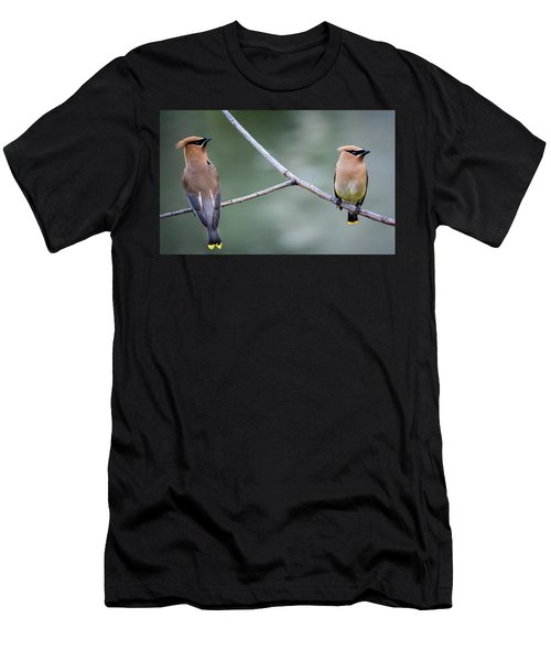 Looking To The Right Men's T-Shirt (Slim Fit) by Omer Vautour