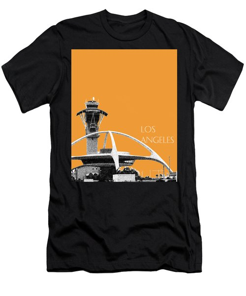 Los Angeles Skyline Lax Spider - Orange Men's T-Shirt (Slim Fit) by DB Artist