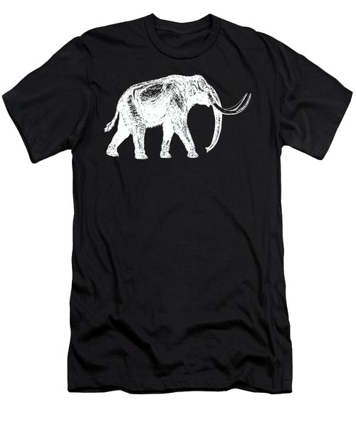 Mammoth White Ink Tee Men's T-Shirt (Slim Fit) by Edward Fielding
