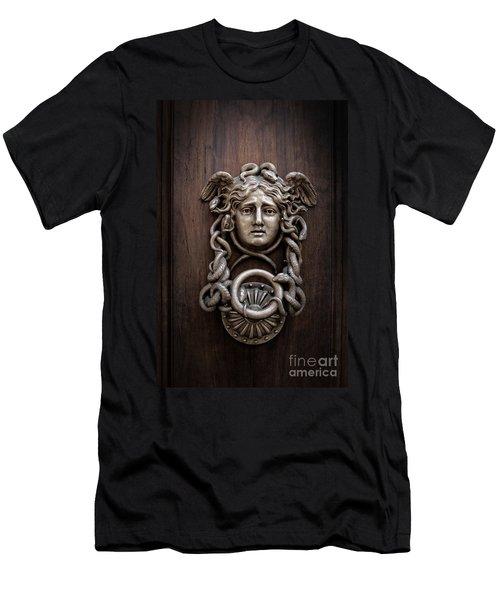 Medusa Head Door Knocker Men's T-Shirt (Slim Fit) by Edward Fielding