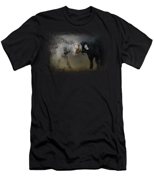 Meeting Of The Minds Men's T-Shirt (Slim Fit) by Jai Johnson