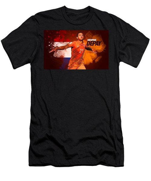 Memphis Depay Men's T-Shirt (Slim Fit) by Semih Yurdabak