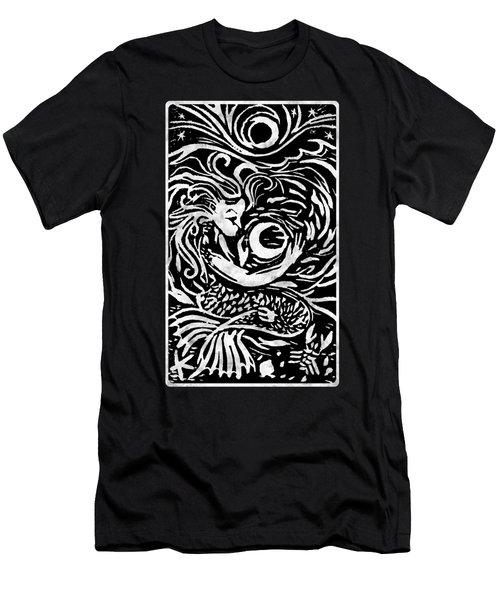Mermaid Moon Men's T-Shirt (Slim Fit) by Katherine Nutt