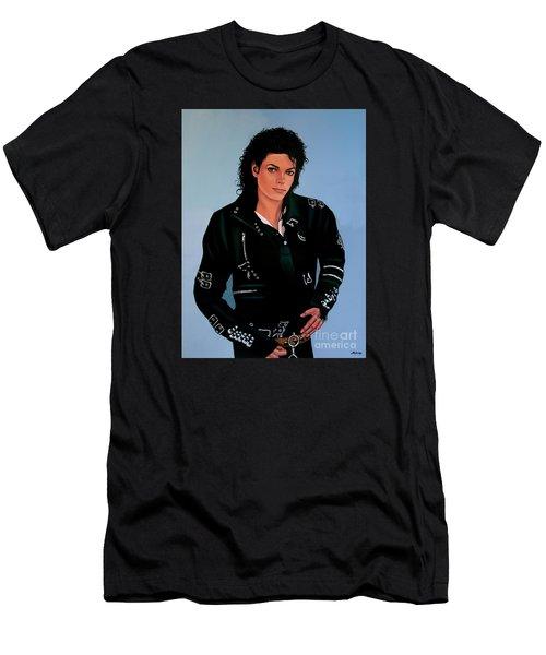 Michael Jackson Bad Men's T-Shirt (Slim Fit) by Paul Meijering