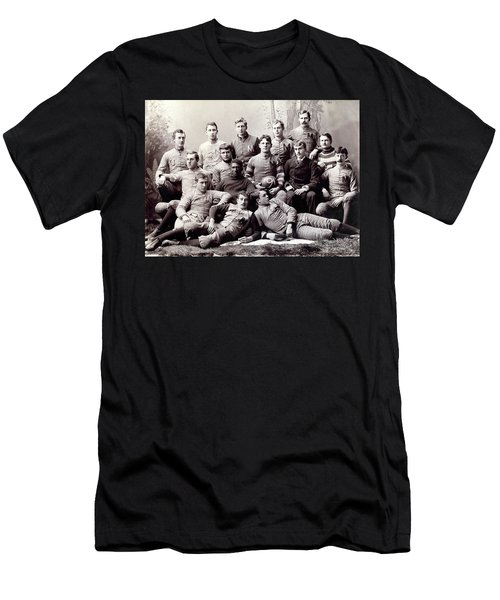Michigan Wolverine Football Heritage 1890 Men's T-Shirt (Slim Fit) by Daniel Hagerman