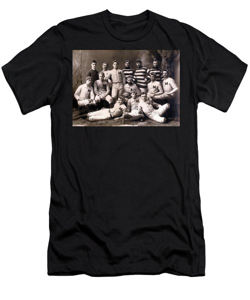 Michigan Wolverines Football Heritage 1888 Men's T-Shirt (Slim Fit) by Daniel Hagerman