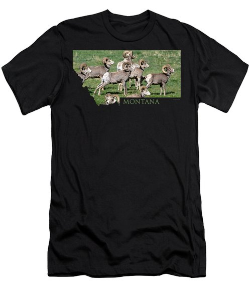 Montana -bighorn Rams Men's T-Shirt (Slim Fit) by Whispering Peaks Photography