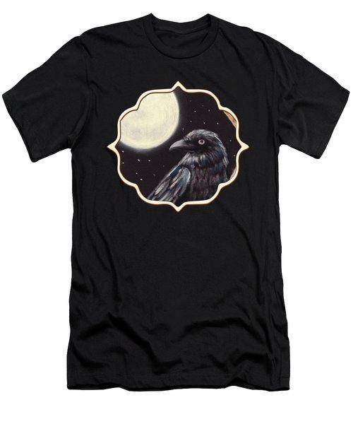 Moonlight Raven Men's T-Shirt (Slim Fit) by Anastasiya Malakhova