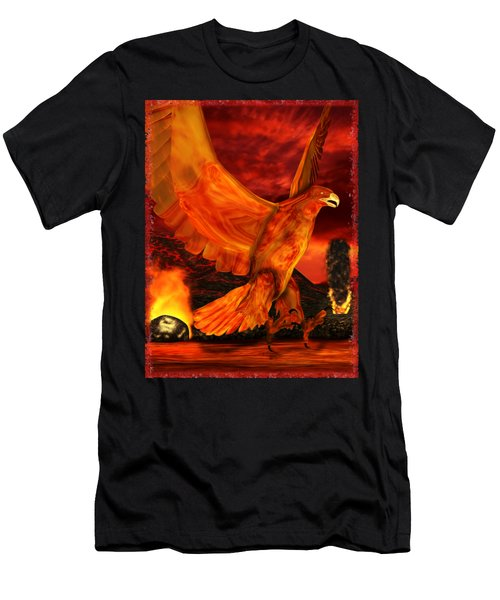 Myth Series 3 Phoenix Fire Men's T-Shirt (Slim Fit) by Sharon and Renee Lozen