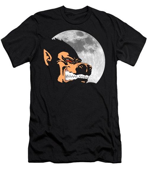 Night Monkey Men's T-Shirt (Slim Fit) by Danilo Caro