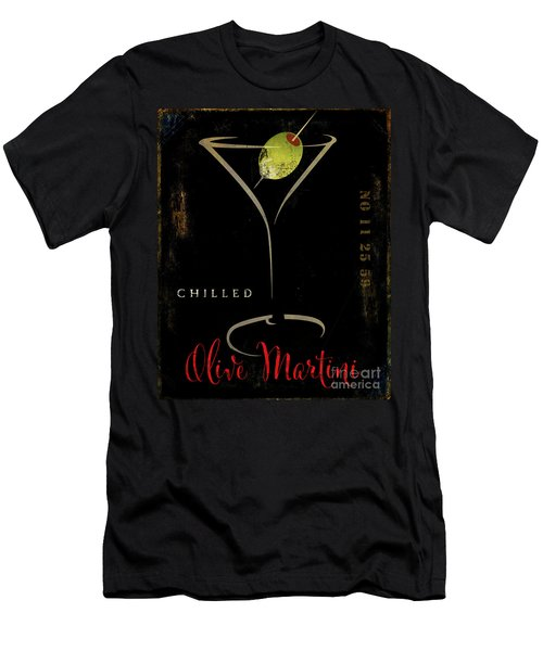 Olive Martini Men's T-Shirt (Slim Fit) by Mindy Sommers