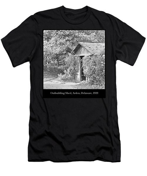 Men's T-Shirt (Slim Fit) featuring the photograph Outbuilding, Shed Arden Delaware 1919 by A Gurmankin