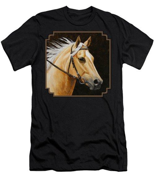 Palomino Horse Portrait Men's T-Shirt (Slim Fit) by Crista Forest