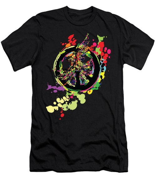 Peace And Peace Men's T-Shirt (Slim Fit) by Cindy Shim