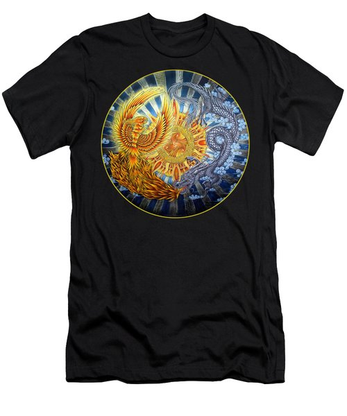 Phoenix And Dragon Men's T-Shirt (Slim Fit) by Rebecca Wang