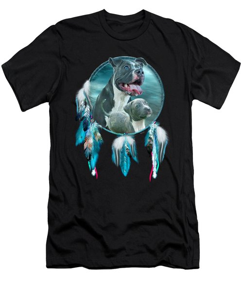 Pit Bulls - Rez Dog Men's T-Shirt (Slim Fit) by Carol Cavalaris