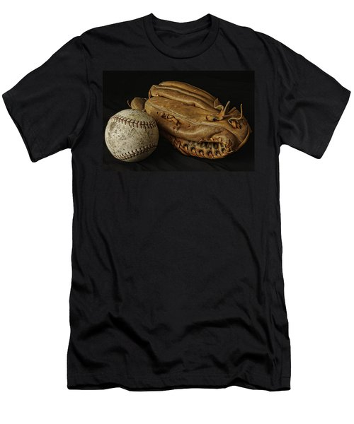Play Ball Men's T-Shirt (Slim Fit) by Richard Rizzo