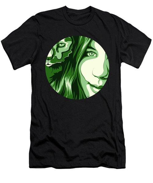 Portrait Men's T-Shirt (Slim Fit) by Carolina Matthes