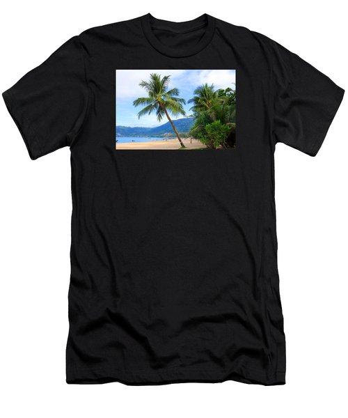 Phuket Patong Beach Men's T-Shirt (Slim Fit) by Mark Ashkenazi