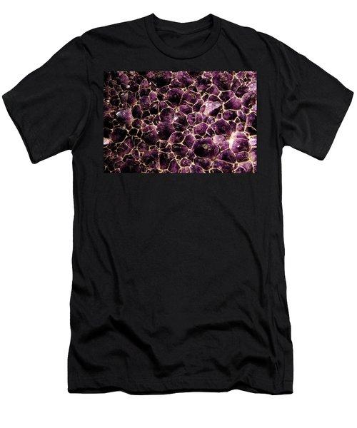 Purple Quartz  Amethyst Men's T-Shirt (Slim Fit) by LeeAnn McLaneGoetz McLaneGoetzStudioLLCcom
