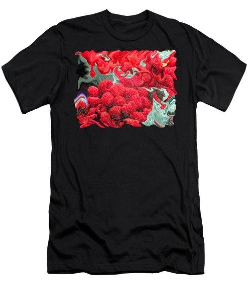 Raspberries Men's T-Shirt (Slim Fit) by Kathy Moll